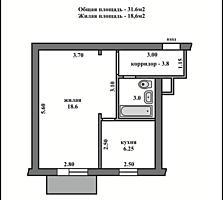 Продается 1-комнатная квартира на Каховской