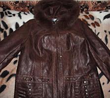 Куртка 52 размер, 2 рост. Новая с песцовым воротником.