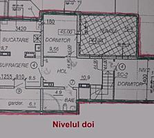 Apartament 5 camere in doua nivele, terasa.