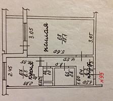 Продам 1-комнатную квартиру, 6/9, после ремонта
