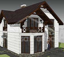 Casa din cotelet 120 mp, termoizolata eficient.