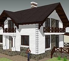 Casa bine izolata cu mansarda din cotilet.
