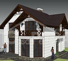 Casa din cotilet, termoizolata, 4 dormitoare, 120 mp