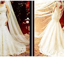 """Срочная продажа красивого свадебного платья фасона""""Рыбка"""", р-р S-M-L"""