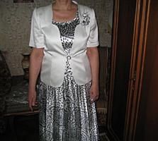 Элегантный костюм-тройка для дамы. Материал атлас и шелк. р 42(48-50)