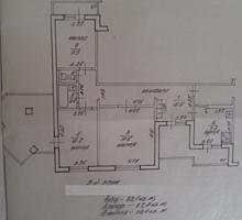 Продам 3-комнатную квартиру на Балке 82,1/67,4/39,4 9/9 тех. этаж