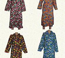 Халаты, ночные рубашки(байка, ситец). Фартуки. Опт. Розница.