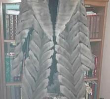 Срочно продается шуба б. у голубая норка, размер 46 - 48.