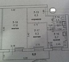 Продам 2-ком. кв. 3/5 Центр г. Бендеры.