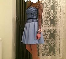 Продам платье с сеткой, сшитое на заказ, размер S
