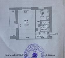 1-комнатная кв. 33.3/17.6/5.1 балкон 5м, от собственника.