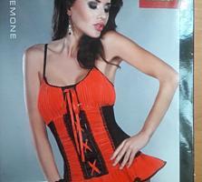Продам эротический красно-чёрный корсет от Livia Corsetti!