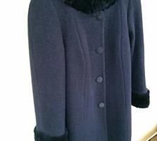 Отличное теплое зимнее пальто, 80% шерсти, 56 размер