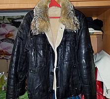 Зимняя кожаная куртка все натуральное