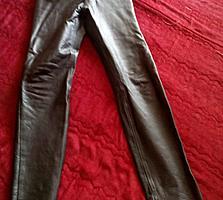 Кожаные брюки 38 р. и кожаный жилет 40_42р. и жилет лён-кожа 36-38р