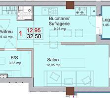 Продается 1 комн. квартира в Жилом комплексе клубного типа. 32,50 кв. м