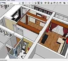 3-х комнатная, белый вариант, середина дома