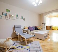 Buiucani, Rahmaninov! Bloc nou, apartament cu 2 odăi - 89 m2. Garaj!