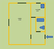 1 комнатная брежневка 30 кв. м