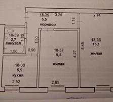 1/5,2-х комнатная Центр, Ленина 10500$