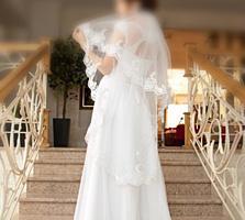 Продам красивое и счастливое свадебное платье.