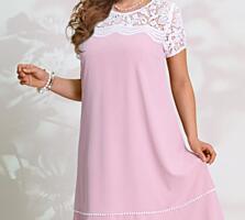 Новое Платье Vittoria Queen белорусский трикотаж, розовый, 50 размер.