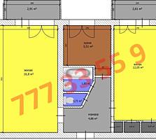 Продается 2-комнатная в центре Бендер.