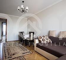 Apartament cu 3 camere, 71m2, etajul 5 din 9, 3 balcoane mari, Botanica