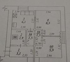 Срочно Бендеры центр 1-к квартира 1/4, 30 кв. м.