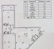 2-комнатная, дом сдан, белый вариант. Буюканы