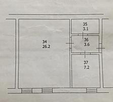 Продаётся 1-комнатная квартира. 40 кв метров.