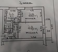 ЦЕНТР 2-к кв. под ремонт 2/5 39/23,5/6 балкон 4 кв. м. не застеклен