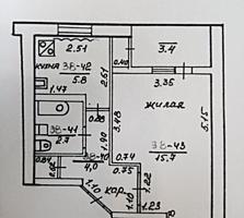 1-комнатная квартира, 2/5, 29,9/15,7/5,8, нижняя Борисовка, Бендеры