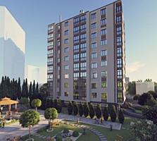 Botanica, Grenoble. Bloc nou, apartament cu 1 odaie, etajul 3/9.