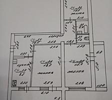 Бендеры Борисовка 3-комн. жилая кв. 73/44/8,2 две лоджии 7 и 6 кв. м.