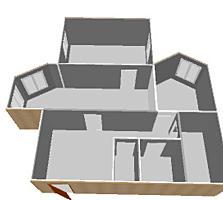 Продается 2-комнатная, ул. 1 Мая, квартира в сером варианте.