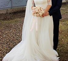 Продам свадебное платье трансформер со шлейфом