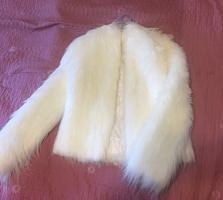Белая пушистая курточка для свадьбы, на вечер.