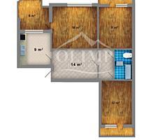 Vind apartament cu 3 odai mobilat si euro reperatie!!! Ciocana!