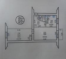Двухкомнатная квартира 46 м2, ул. Гвардейская дом №12, 2 эт. /5, 15000$