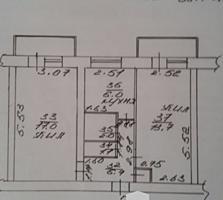 Причерноморье, 2-комнатная квартира с разд. комн, под капремонт!