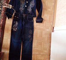 Продам новый джинсовый костюм