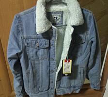 Джинсовая куртка джинсовка с мехом новая XS