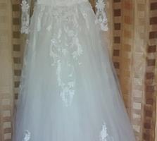Продаю изящное свадебное платье и накидку (размер - 46). Для невесты.