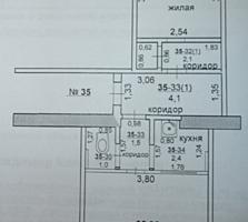 Продается 2-комнатная квартира, 3 этаж, без балкона, Шелковый.