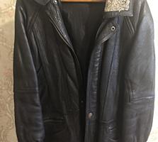 Куртка кожа зимняя!