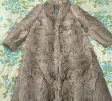 Шикарная шуба из натурального меха кролика