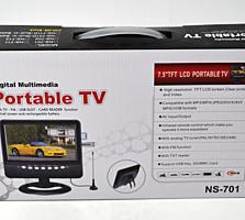 7-дюймовый портативный мини-телевизор Portable TV LCD NS-701