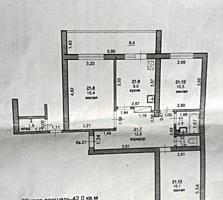 Большая 3-комнатная квартира на Борисовке, кухня 9 кв. м, 6/6эт