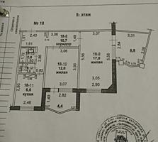 Большая квартира на Пентагоне! С переходной лоджией!